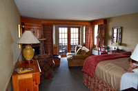 King Bed and Living Area - Ossipee